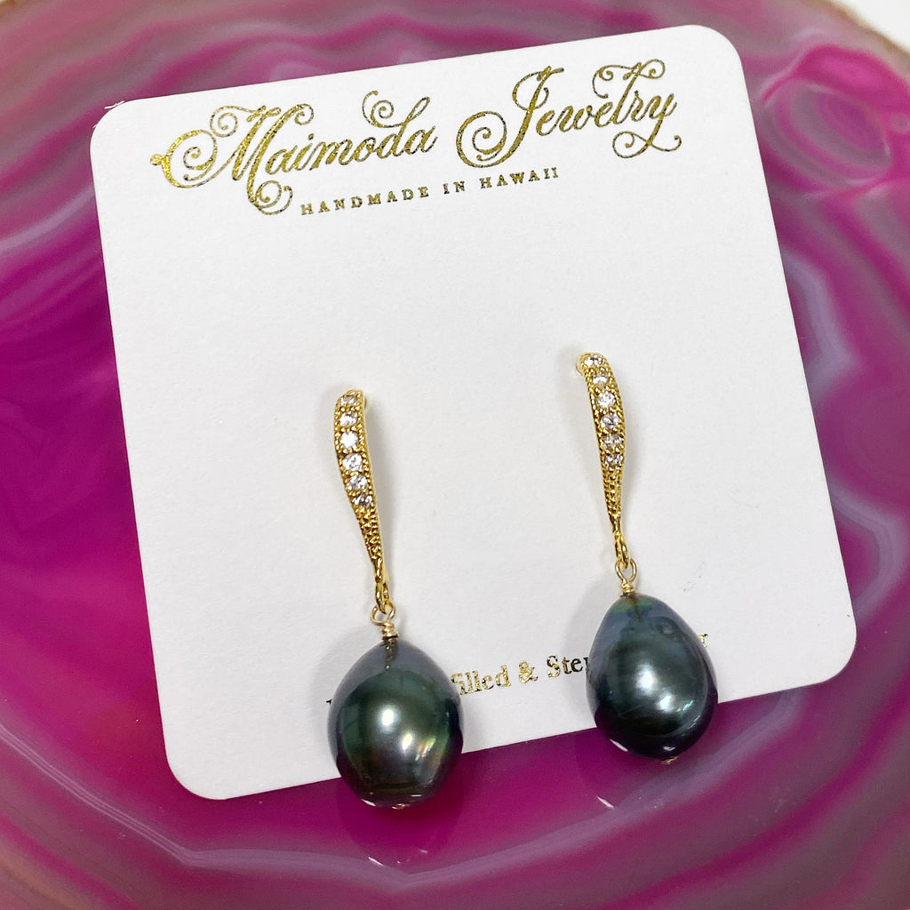 Earrings CASI - tahitian pearls (E450)