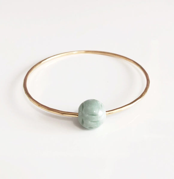Bangle KEIKE - jade bead bangle (B101)
