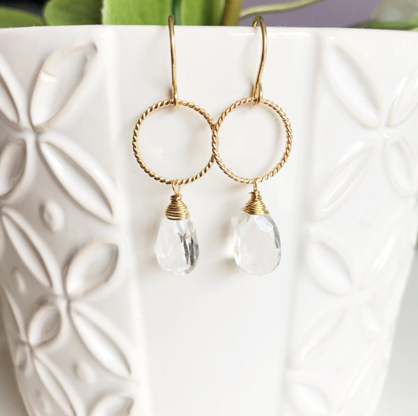 Earrings Sophia - crystal quartz ( N263)