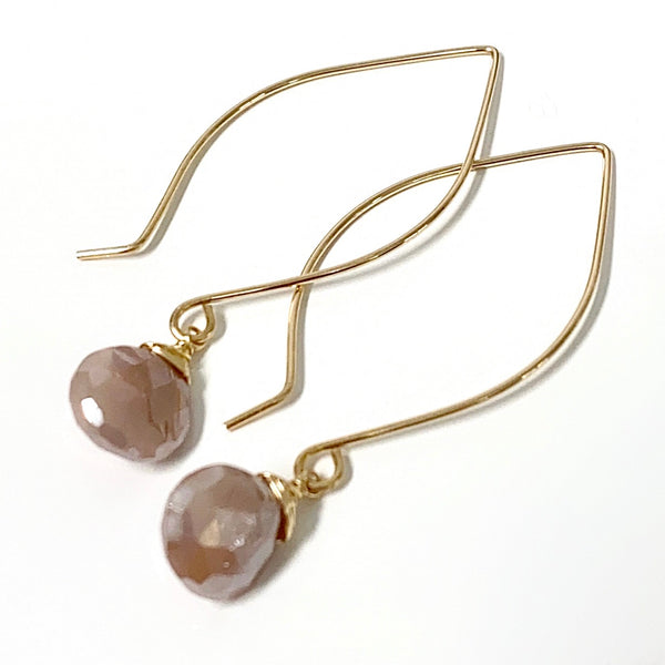 Earrings KALENA - mystic moonstone (E491)