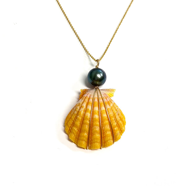 Necklace IOLA - yellow shell (N352)