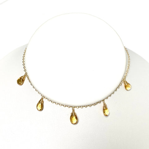 Necklace IVANNA - citrine (N332)