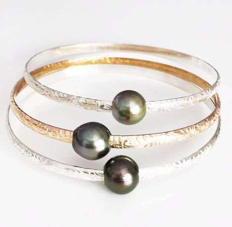Bangle Alii - tahitian pearl (B276)