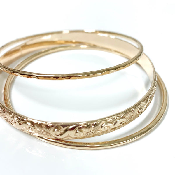 MOANI bangles set - 6mm heirloom bangle (B440)