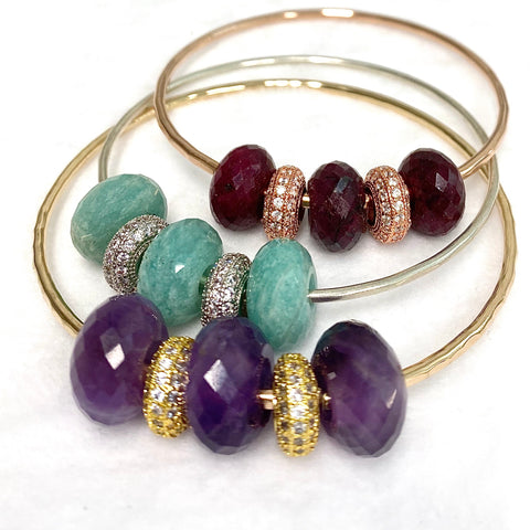 Bangle ANELI - gemstones