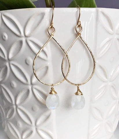 Earrings Nerida -moonstone (E320)