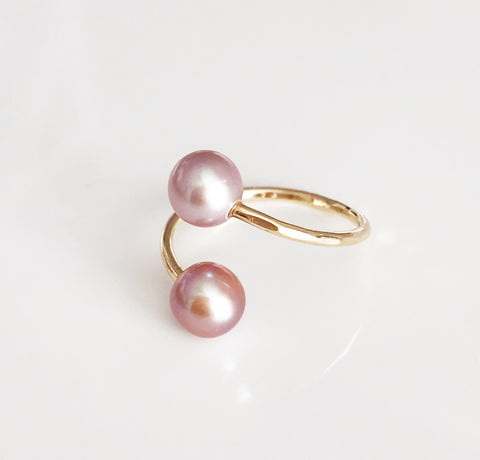Ring Leia - pink pearls  (R143)