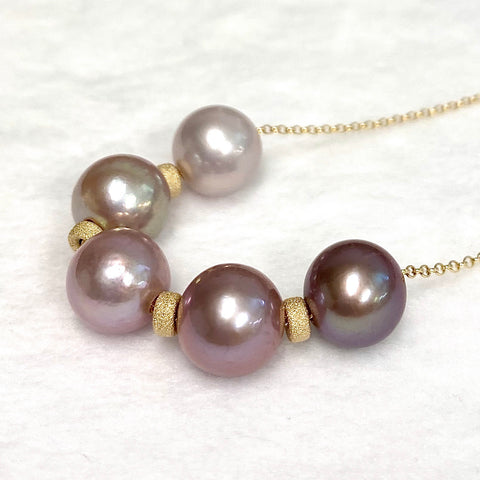 Necklace AURA - Edison pearls ombré