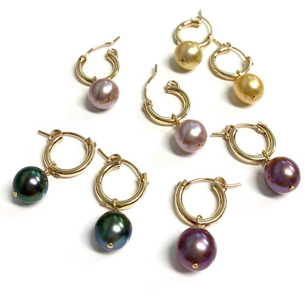 Earrings NOELA - Round pearl ( E585)
