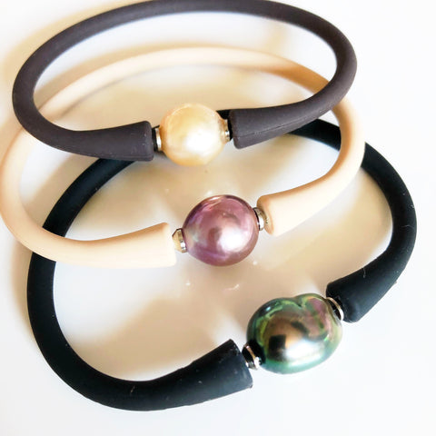 Silicone pearl bracelet (B398)