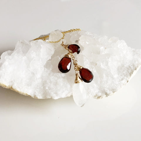 Necklace NOHEA - garnet (N122)