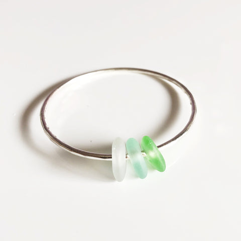 Bangle KAWAI - green ombré (B283)