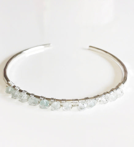 Cuff Brielle - Aquamarine (B308)
