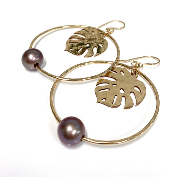 Earrings BELLA -  lavender Edison pearls (E590)