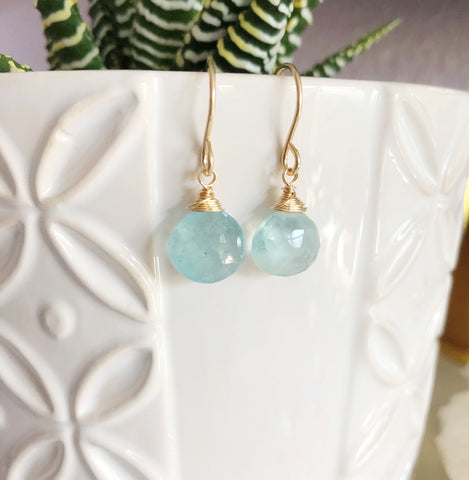 Earrings KALA - aquamarine (E457)