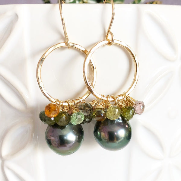 Earrings KIRA - tourmaline  (E509)
