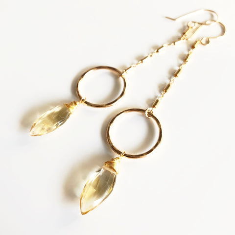 Earrings EIZA - citrine (E517)