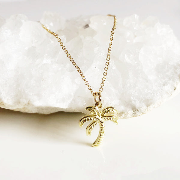 Palm tree necklace (N276)