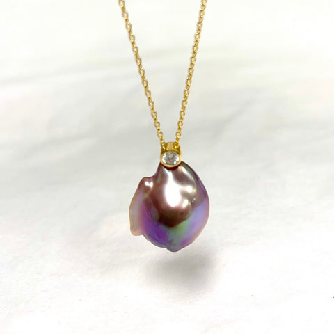 Necklace MIULiE - baroque Edison pearl (N384)