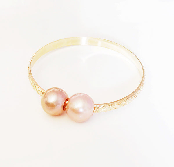 Bangle Luna - pink pearls (B315)