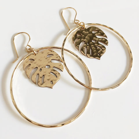 Large monstera hoops (E545)