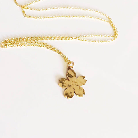 Cherry blossom charm necklace (N323)
