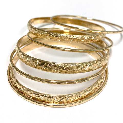 ATHENA bangle set - 6mm bangles (B484)