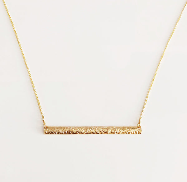 Heirloom bar necklace (N288)