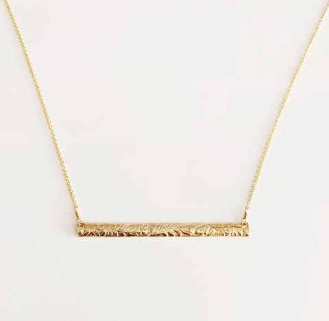 Necklace MELIA - horizontal bar  (N288)