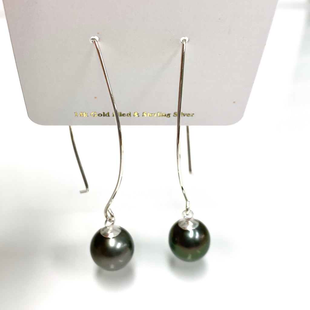 Earrings KALENA - Tahitian pearls (E396)