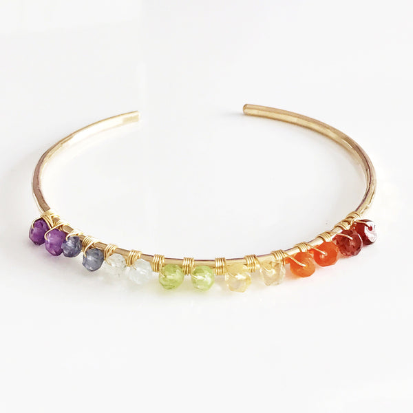 Cuff Brielle- chakras colors (B313)