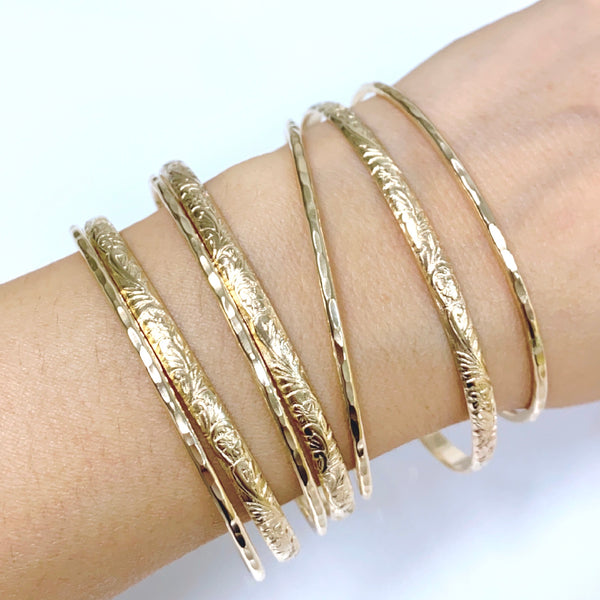ATHENA bangles set - 4mm heirloom bangles (B457)