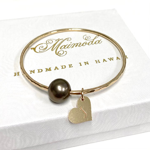 Bangle VICCI - Tahitian pearl (B545)