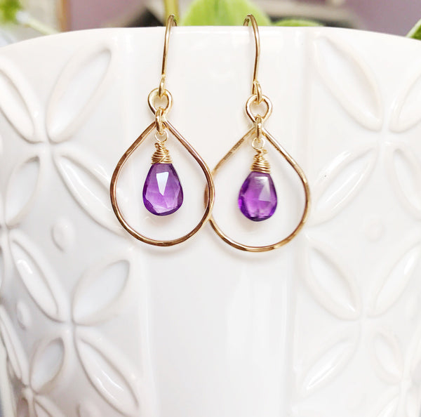Earrings Irina - amethyst (E357)