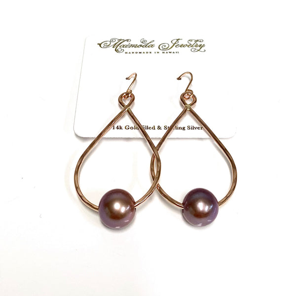 Earrings STELLA - lavender Edison pearls (E580)