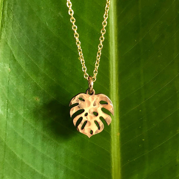 Monstera necklace (N285)