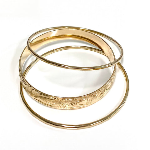 Baby MOANI bangles set - 8mm heirloom bangle (B544)
