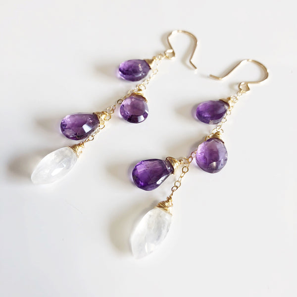 Earrings EMEIL - amethyst (E470)