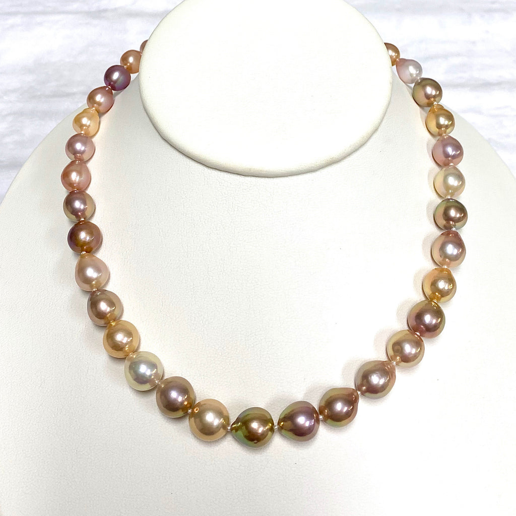 Necklace JACQUELINE - Edison pearls strand necklace - multicolor (N353)
