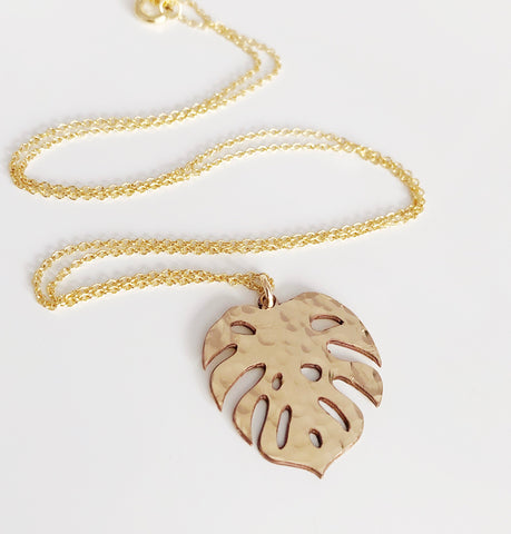 Large monstera necklace (N291)
