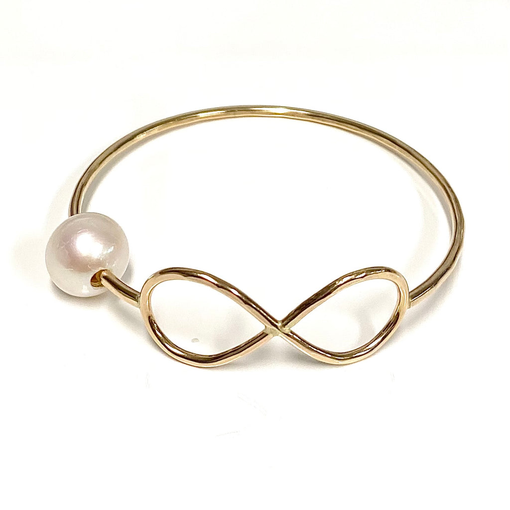 Bangle HALIA - white fresh water pearl (B211)