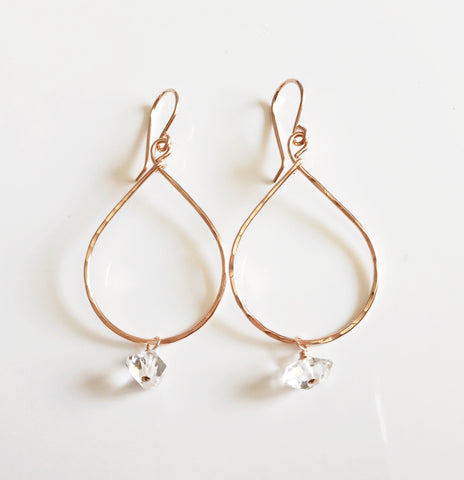 Earrings Nerida- herkimer diamond (E376)