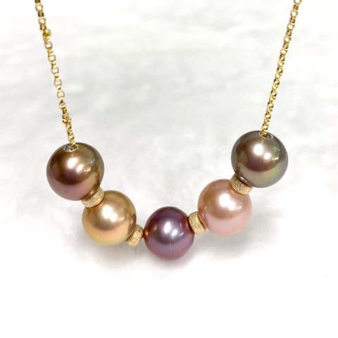 NEW 5 Edison pearls necklace