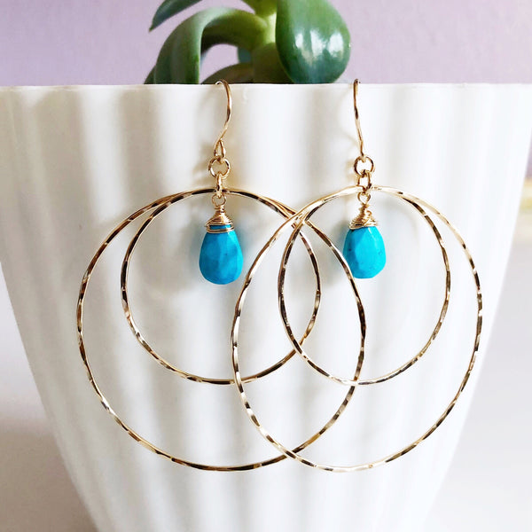 Earrings RACHEL- turquoise (E455)