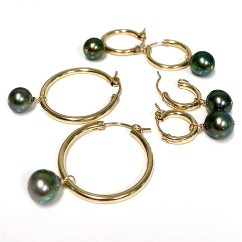 Earrings NOELA - Tahitian pearl (E587)