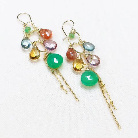 Earrings AVA - chrysoprase (E301)