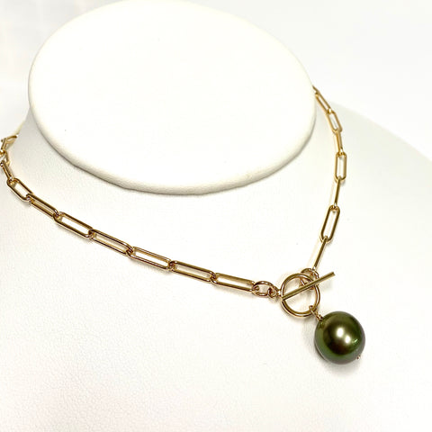 Necklace ARIELLA  - Tahitian pearl (N337)