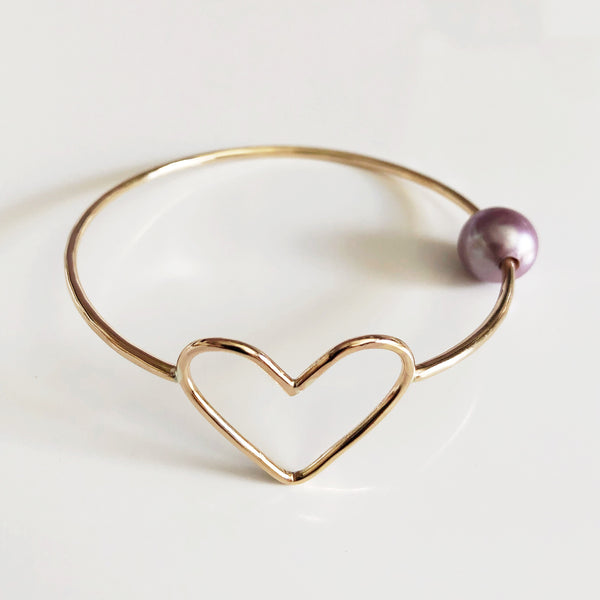 Bangle EDEN - lavender pearl (B422)