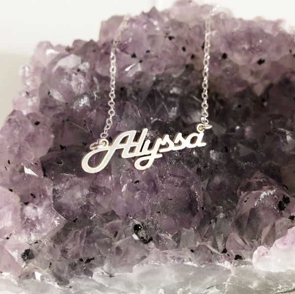 Name pendant necklace (N278)