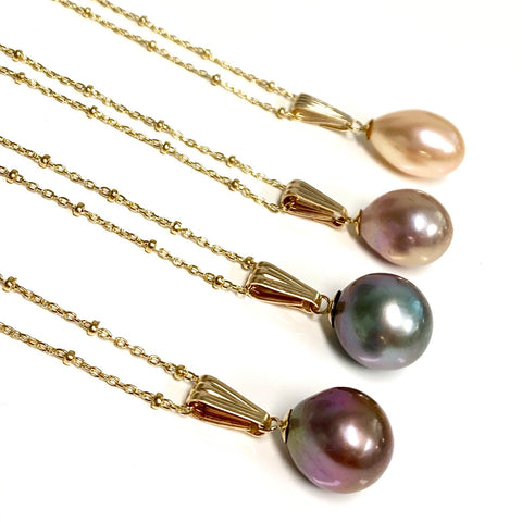 Necklace Irene - Edison pearl ( E351)